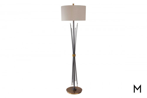 Flared Floor Lamp with Drum Shade