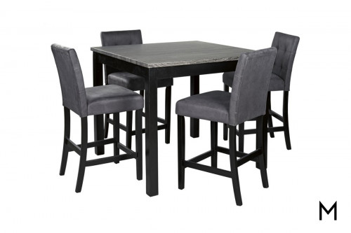 Garvine Counter Height 5 Piece Dining Set with 4 Chairs