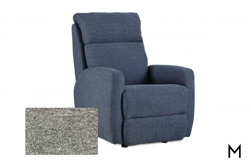 M Collection Primo Swivel Recliner in Halifax Dove