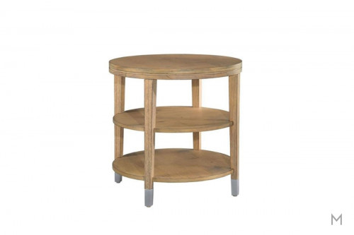 Avery Park Circular End Table with Three Shelves