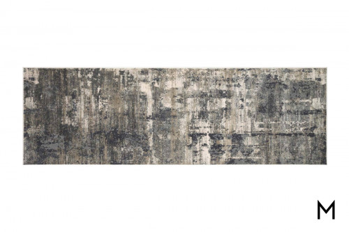 Charcoal Abstract Runner Rug 2'x10'