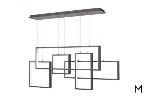 Modern Multi-Polygonal LED Chandelier