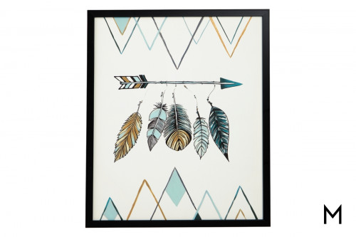 Feather and Arrow Wall Art