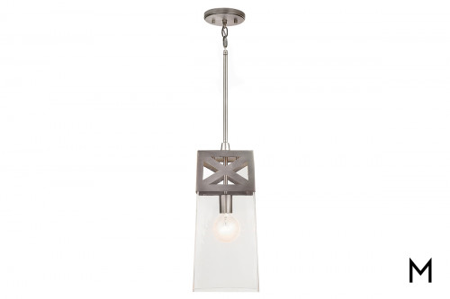 Brushed Nickel 1 Light Pendant