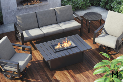 Rectangular Chat Fire Table