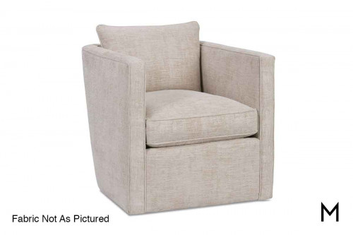 Roth Swivel Accent Chair in Naturewood