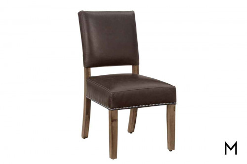Simply Maple Leather Side Chair