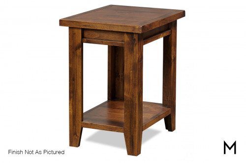 Alder Chairside Table in Brindle Finish