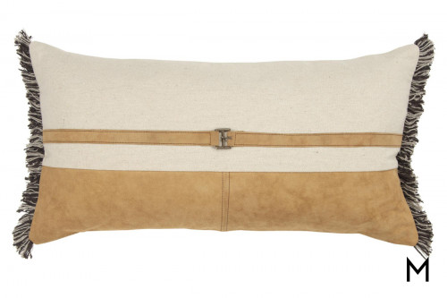 Natural Color Block Down Filled Pillow