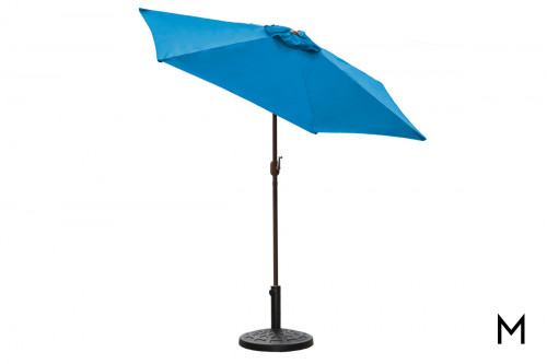 9' Blue Umbrella and Base