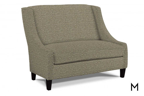 Prost Settee with Espresso Finish