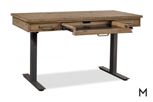 Terrace Adjustable Height Desk with Drawers