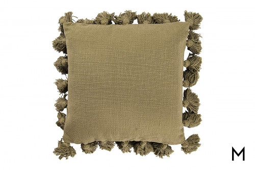Square Throw Pillow with Tassels