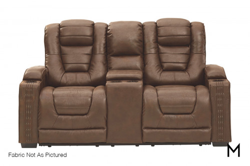 Owner's Box Power Recliner Loveseat with Console