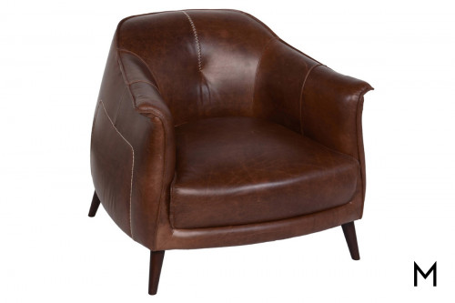 Leather Barrel Club Chair