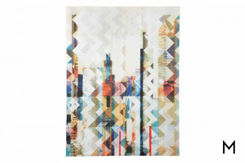 Multi Chevron Collage Wall Art on Canvas