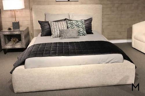 Jill Platform Queen Bed in Linen
