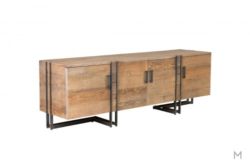 Marcelo Four Door TV Stand made with Reclaimed Pine