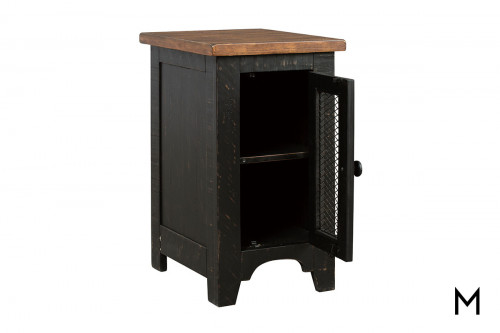 Chairside Table with Shelf