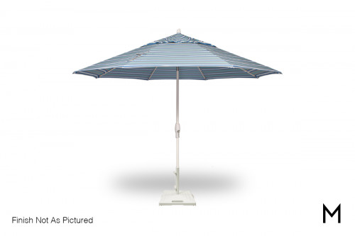 11-Foot Auto Tilt Umbrella with Base in Anthracite Grey