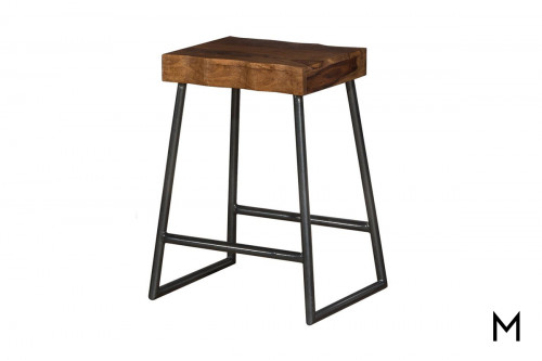 Live-Edge Counter Stool
