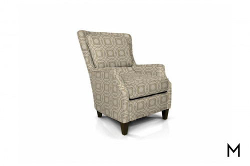 French Accent Chair in Aramis Fret