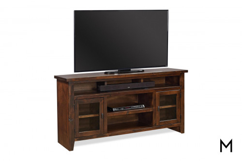 "Alder 2 Door 65"" TV Console with Tobacco Finish"