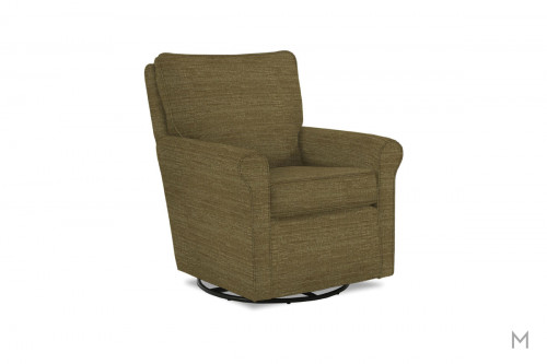 Kacey Swivel Glider Chair in Cashmere