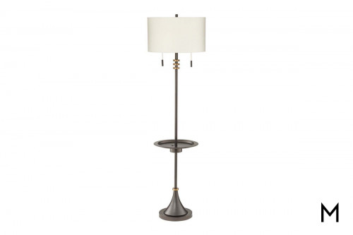 Contemporary Floor Lamp with Tray Table and USB Charge Port