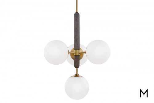 Concrete and Brass 4-Light Pendant