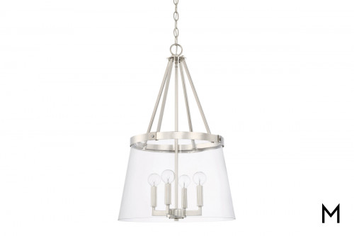 Polished Nickel 4-Light Foyer Pendant