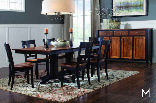 Elm & Maple 5 Piece Dining Set Table & 4 Side Chairs