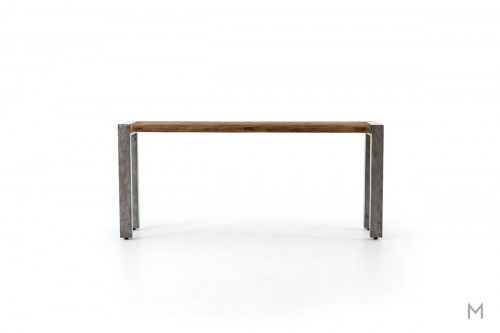Shea Console Table featuring Mixed Metal and Wood