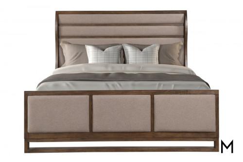 Modern-Rustic Queen Sleigh Bed