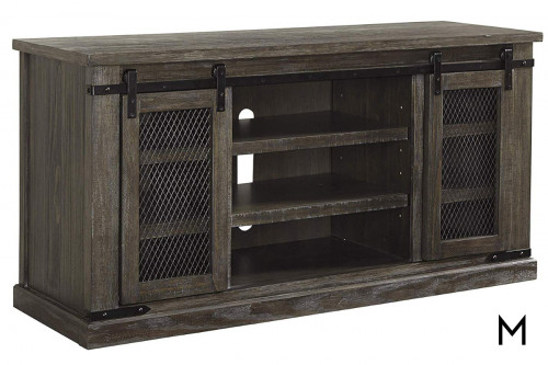 Danell Ridge Large TV Stand with Sliding Barn Doors