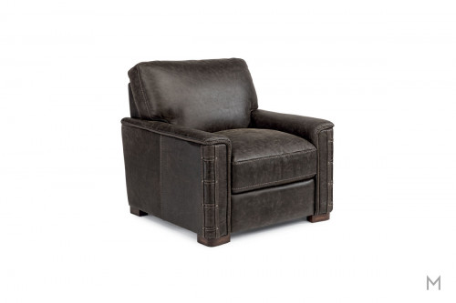 Lomax Leather Chair with Nailhead Detail