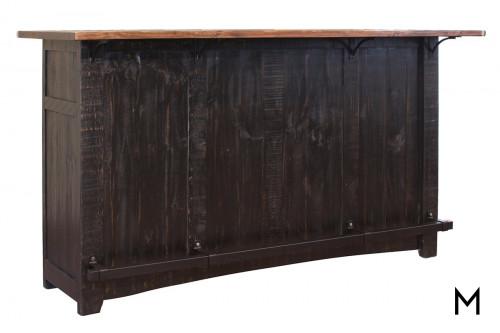 Black Rustic Wood Bar