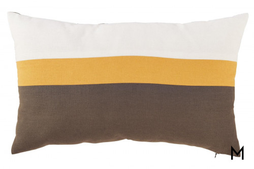 Jacop Pillow in Gray, Yellow, White