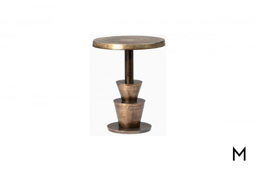 Kenway Side Table in Vintage Brass
