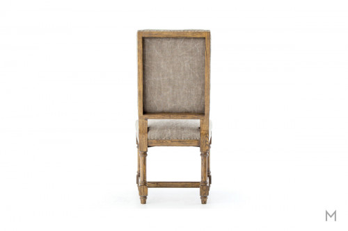 Ashton Upholstered Dining Chair featuring Heavy Jute in Taupe