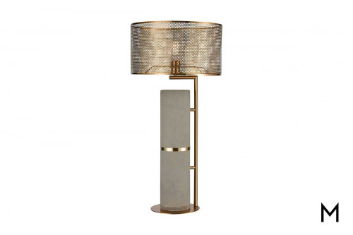 Katwijick Concrete Lamp in Aged Brass