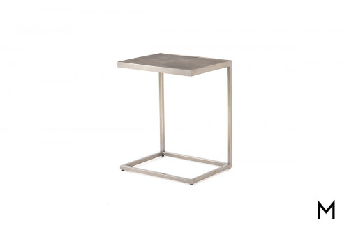 Cutler C Table in Antique Pewter