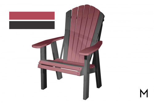 Cherry with Black Patio Chair