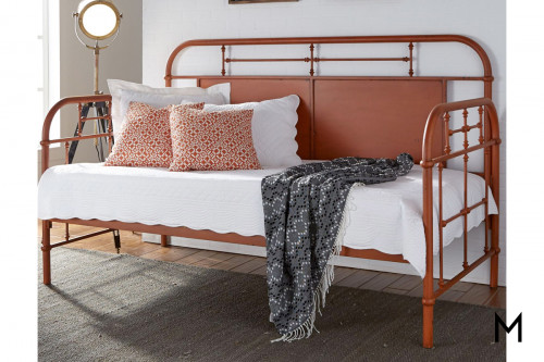 Vintage Twin Daybed in Orange