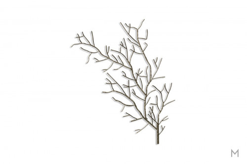 Metal Tree Wall Sculpture in Silver