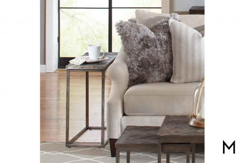 Chevron Chairside Table