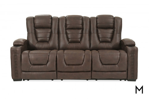 Big Chief Microfiber Power Reclining Sofa with Power Outlets