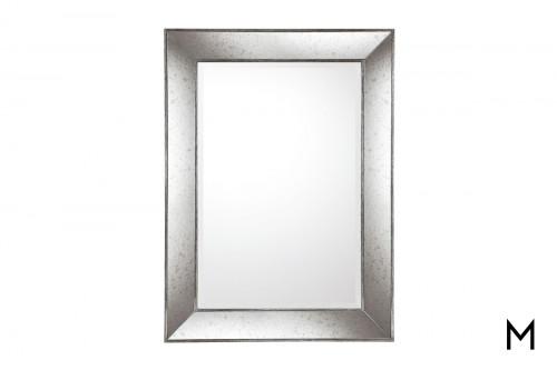 Antiqued Silver Framed Mirror
