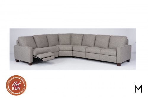 5-Piece Sectional Sofa with 3-Reclining Sections
