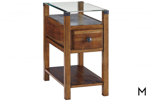 Diamenton End Table with Charging Ports